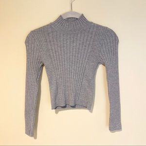 Urban Outfitters Cropped Turtle Neck Gray